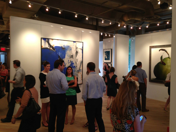 Conversation and Cocktails in the Gallery