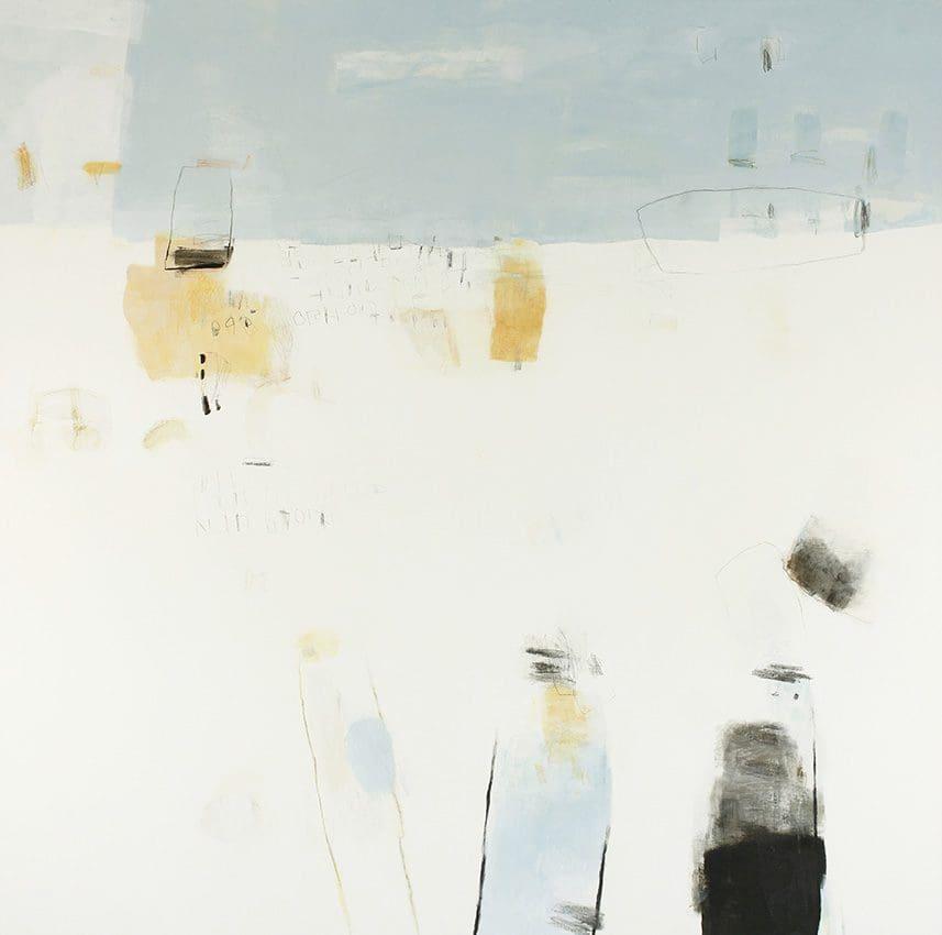 "Hyunmee Lee, ""Bada-Sori"", Acrylic on Canvas, 72x72 inches"