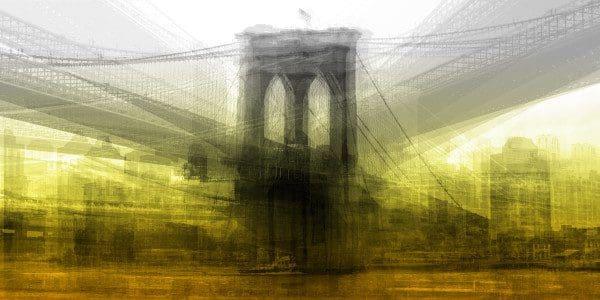 """Villeneuve, """"Pont Brooklyn"""", Photograph on Aluminum, 48 X 96"""
