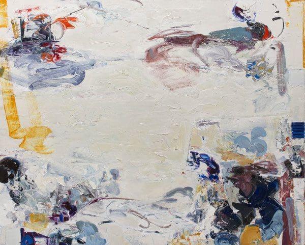 "Christine Hayman, ""Aurora"", Oil on Canvas, 48.25 X 60 X 2.5"