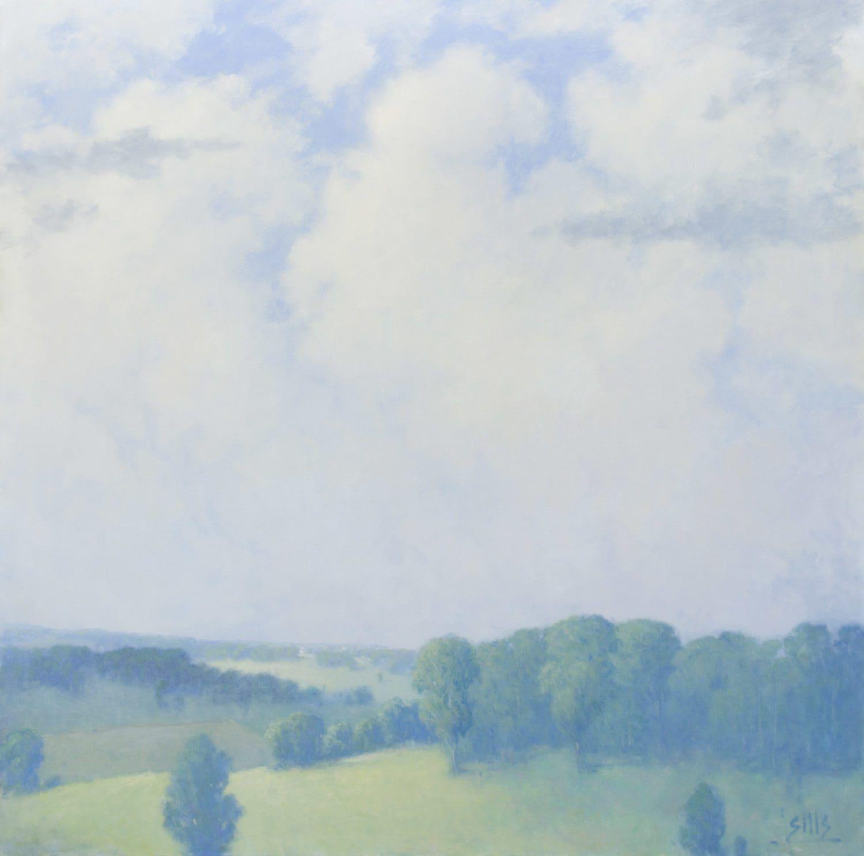 """Sills, """"Back Bay Dawn,"""" Oil on Canvas, 20 x 24 in."""