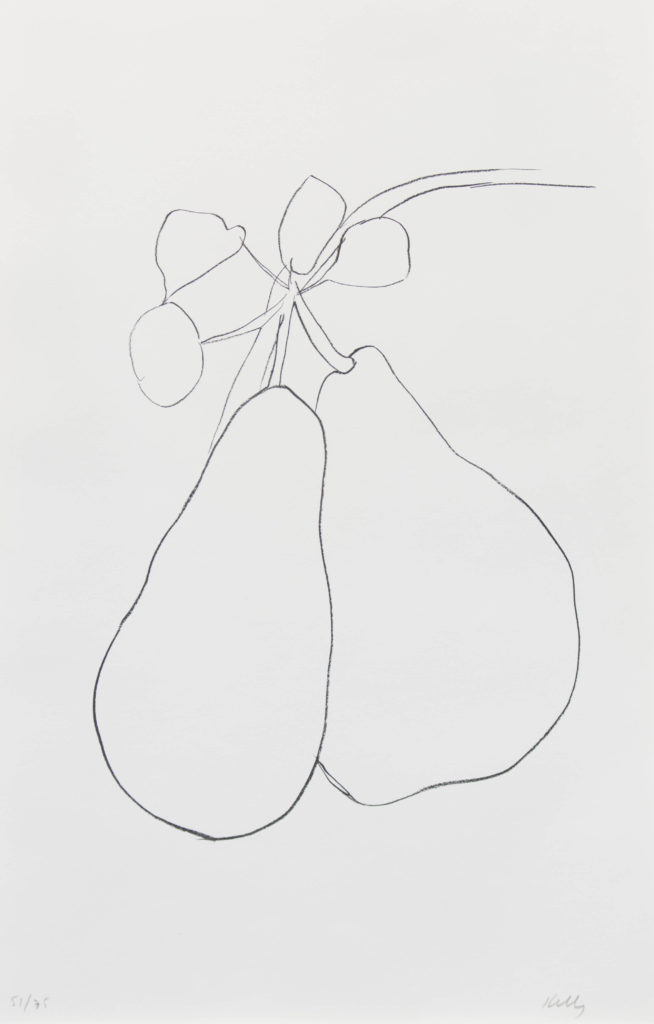 """Pear"", Lithograph, 54.5 x 32.35 in."