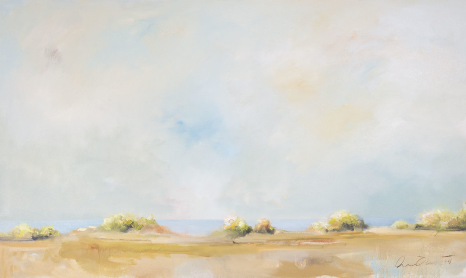 """Abrecht, """"Tidal Line"""", Oil on Canvas, 36 x 60 in."""
