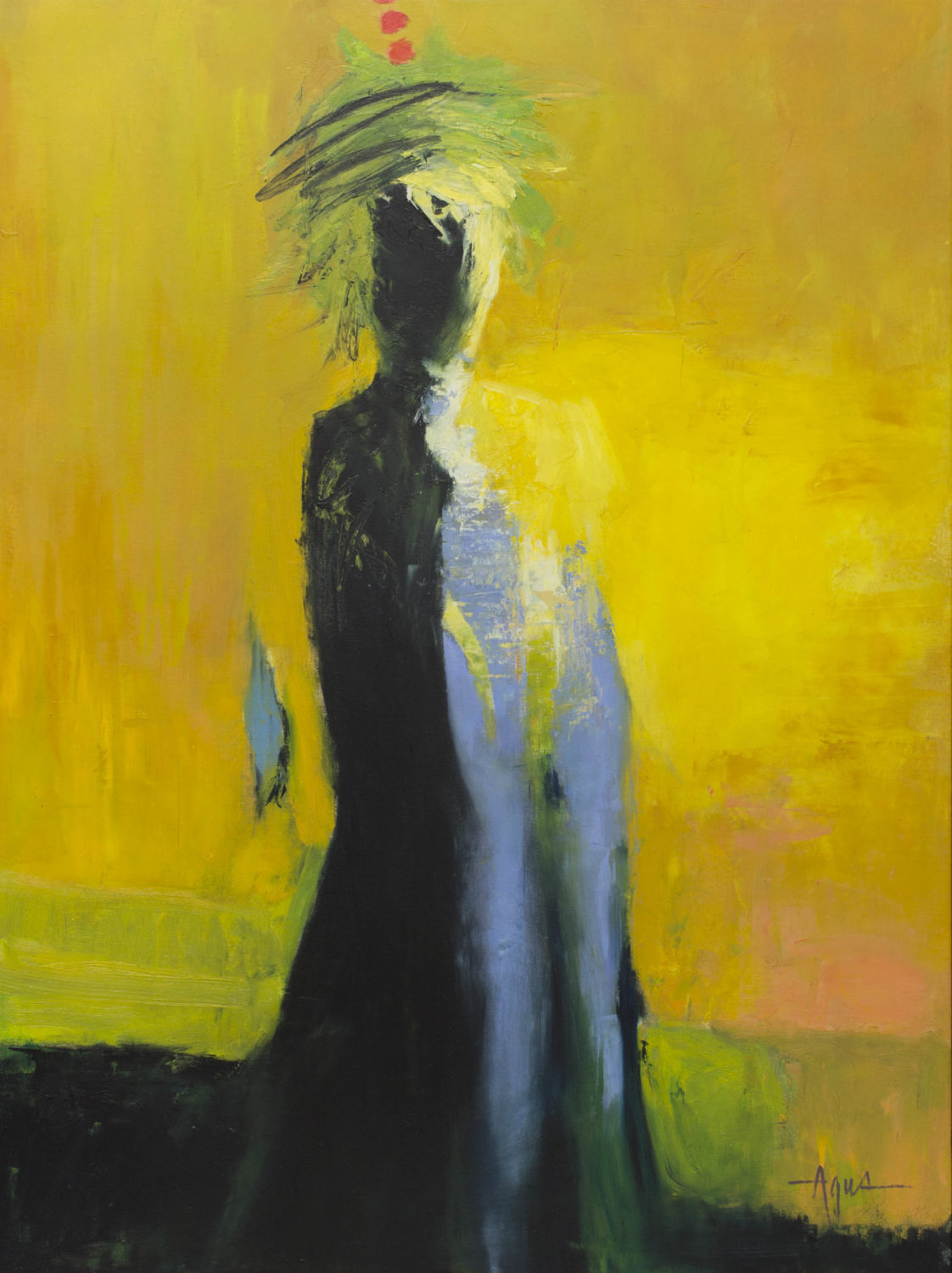 "Agus, ""Sunra"", Oil on Canvas, 48 x 36 in."