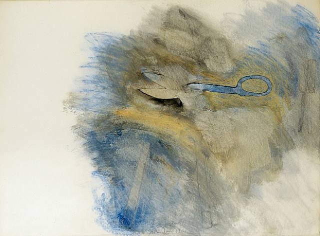 """Scissors, 1962"", Mixed Media on Paper, Size unknown"