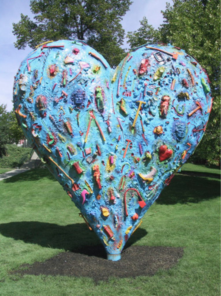 """The Technicolor Heart (The Big One)"", Bronze, 12 x 12 ft."