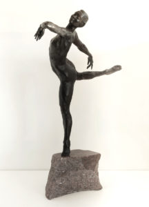 Schueckler, Releve, Bronze on a Texas Granite Base, 31 x 19 x 12 in.