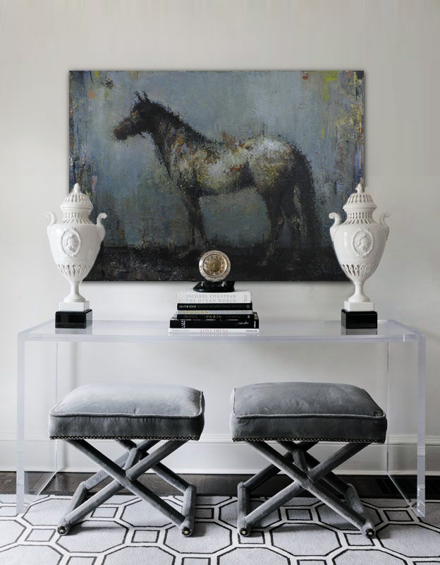 Terreson, Majesty Blue, Giclee on Canvas, 40 x 56 in.
