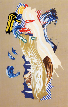 "Lichtenstein, ""Blonde,"" Lithograph, Woodcut, 58 x 37 in."