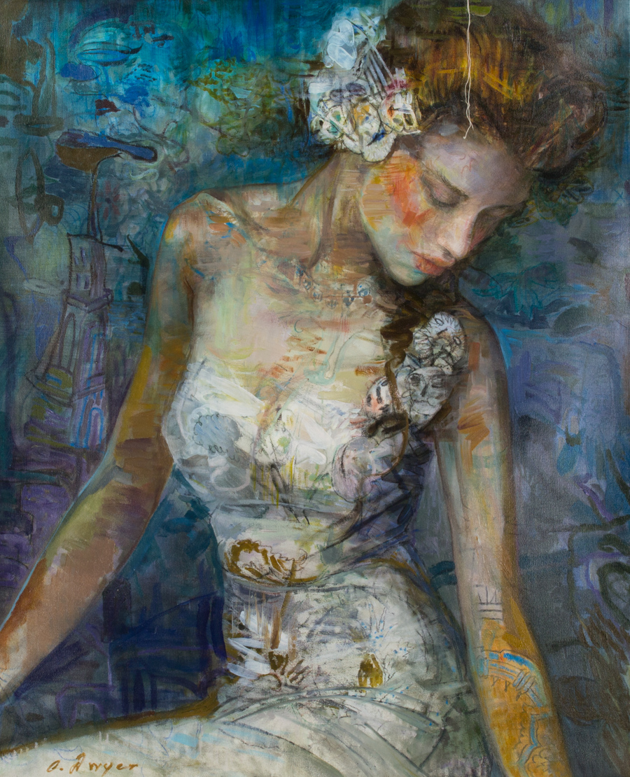 """Dwyer, """"Grace,"""" Oil on Canvas, 52 x 42 inches"""