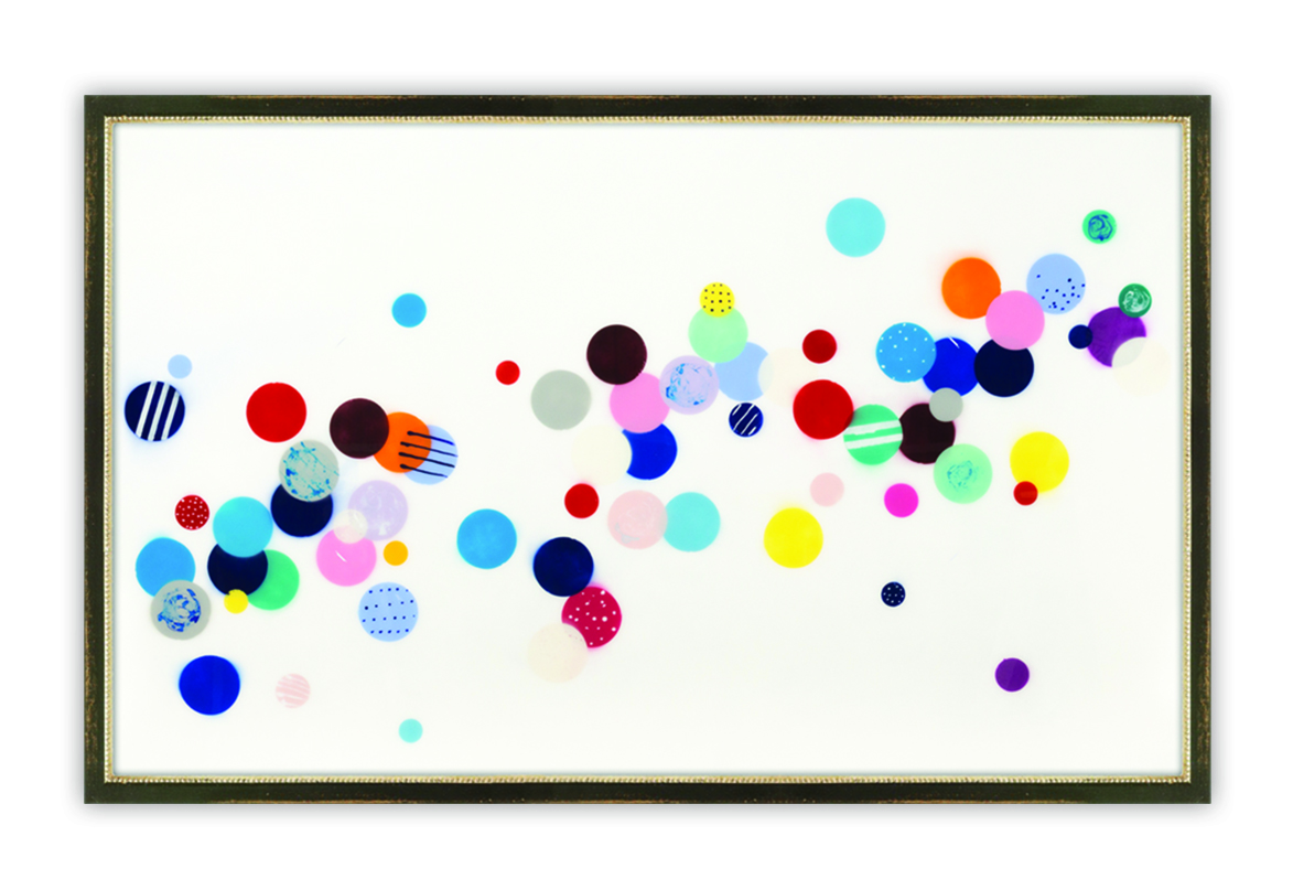 "McClain, ""Going West,"" Mixed Media with Resin on Panel,"" 44 x 72 in. 