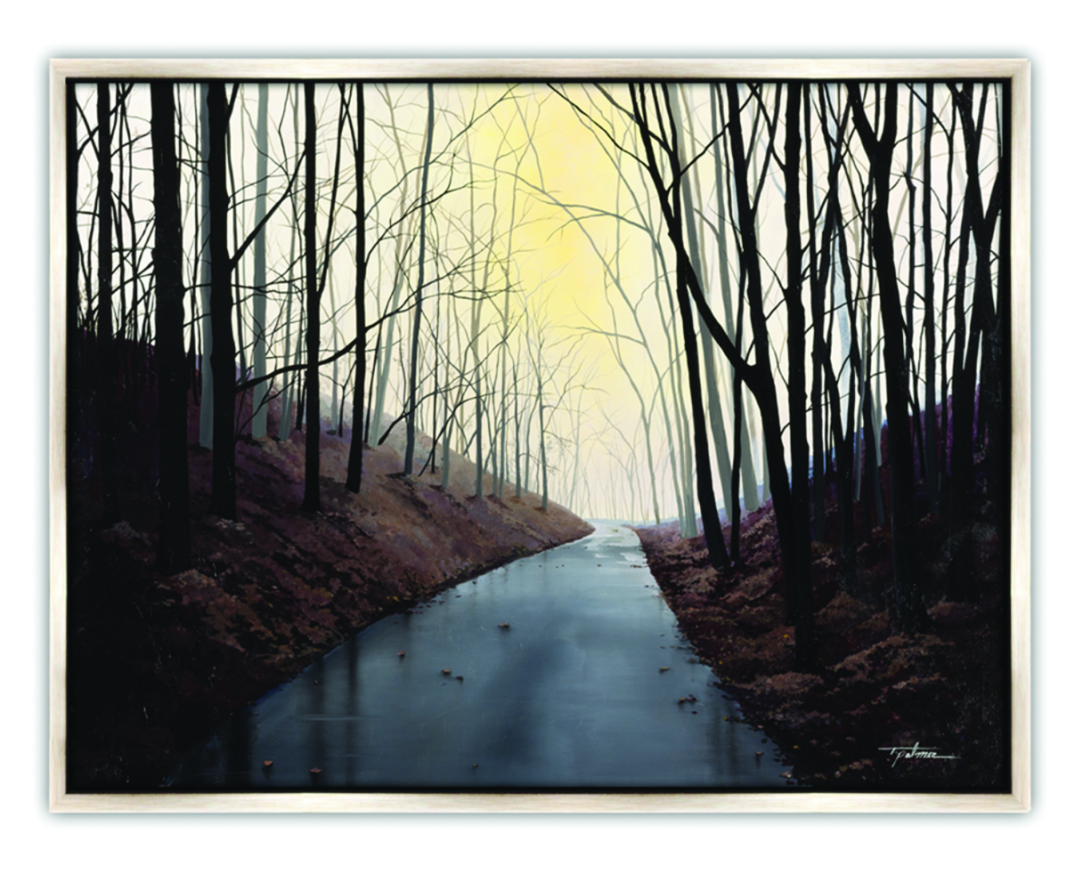 "Palmer, Mist in the Distance, ""Acrylic on Canvas,"" 36 x 48 in. 