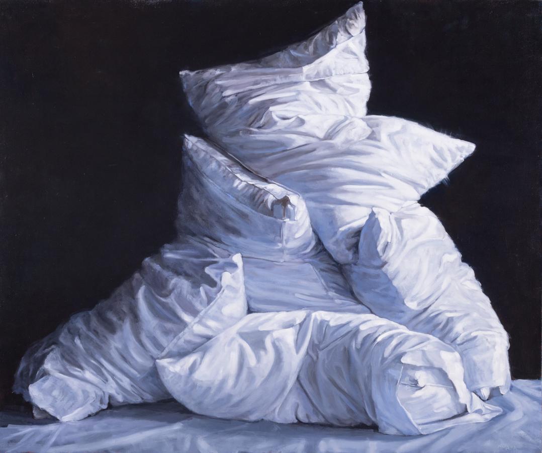 """O'Malia, """"You Make Me Feel Like Dancing,"""" Oil on Canvas, 50 x 60 in."""
