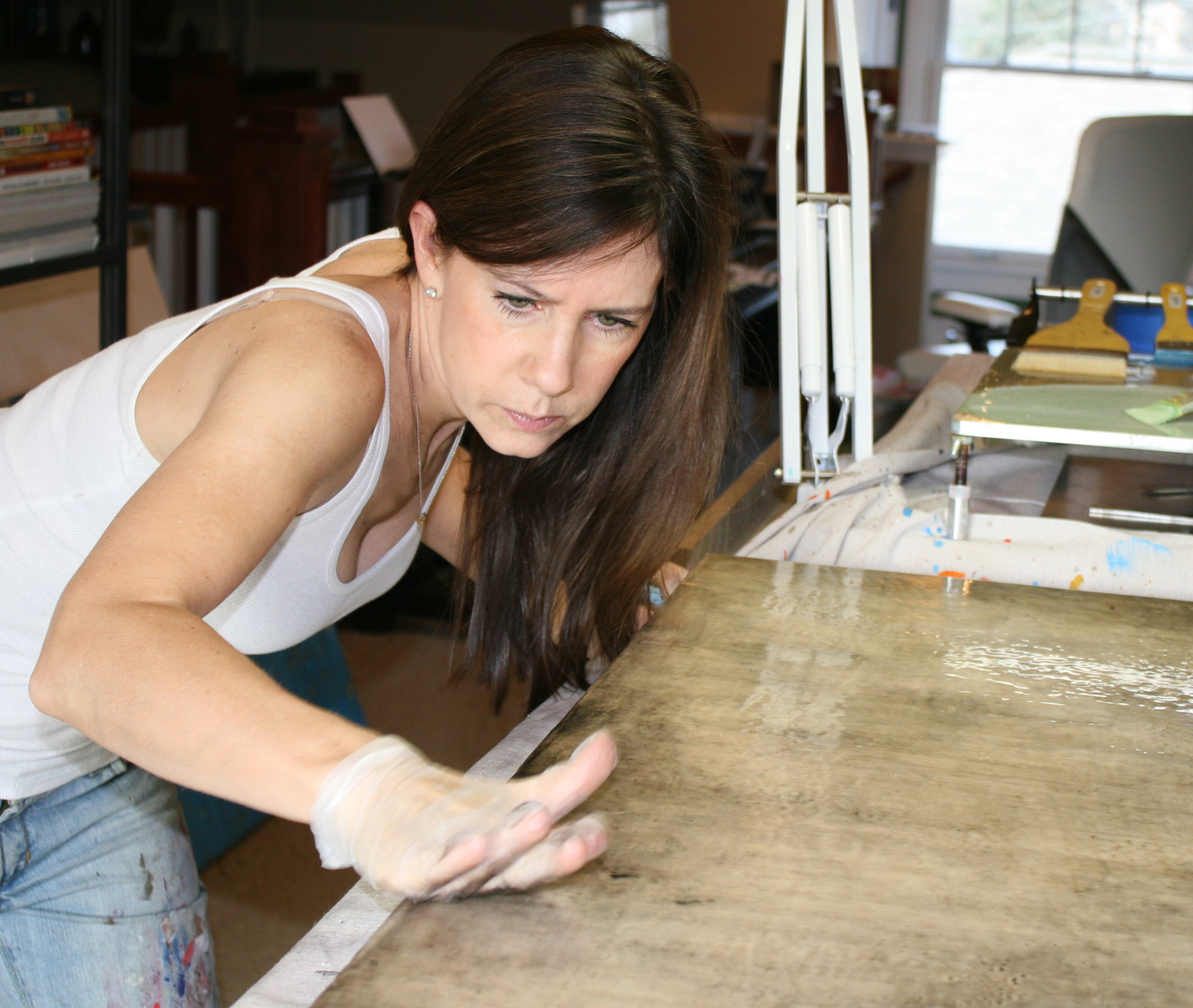 In her studio: Another step in Van Winkle's artistic process