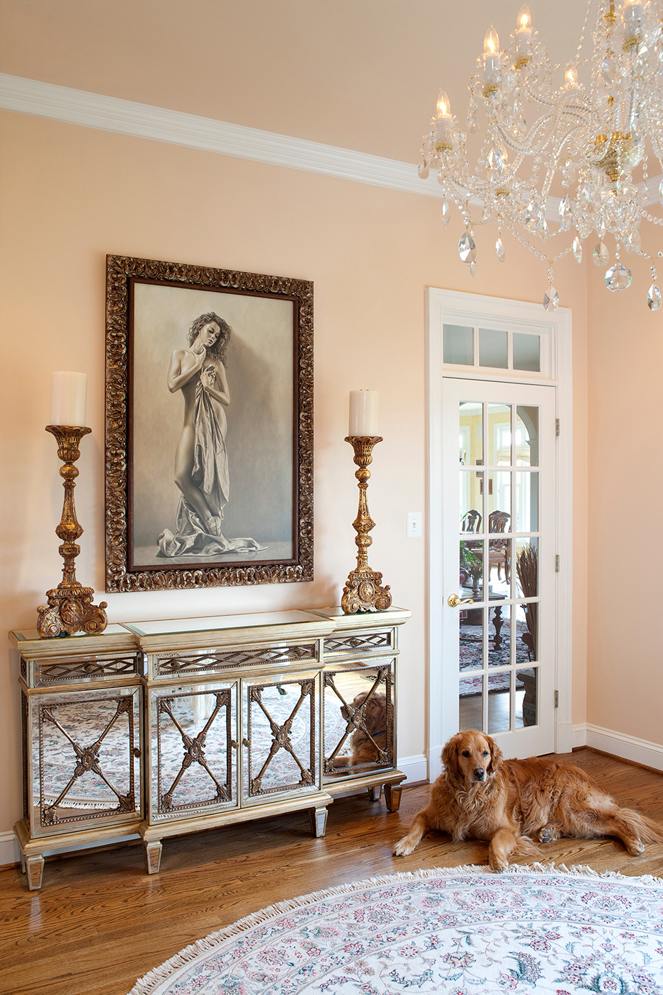 Interior Design by Janice Lachman | Art by Merritt Gallery & Renaissance Fine Arts