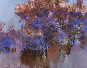 "Maksimenko, ""Garden,"" Oil on Canvas, 55 x 71 in."