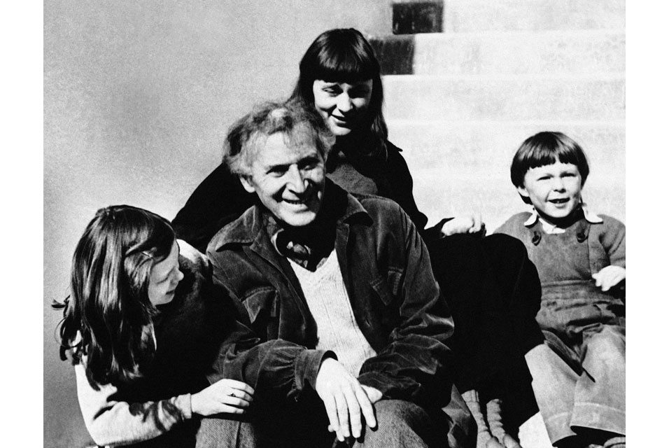 Chagall with his family at their home in Vence in the south of France in April 1951