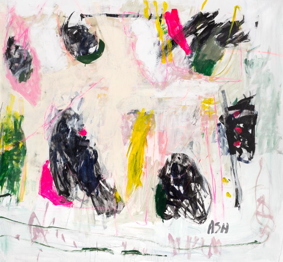 "Andrews, ""Tara,"" Acrylic on Canvas, 56 x 61 in."