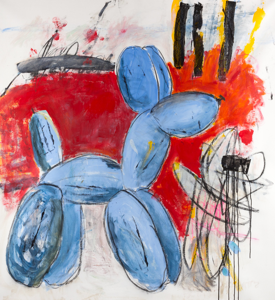 "Andrews, ""Je Suis Balloon Dog II,"" Acrylic on Canvas, 66 x 60 in."