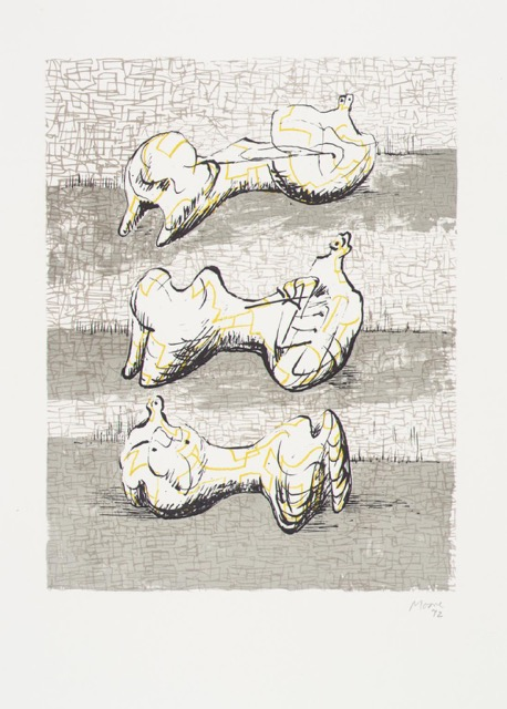 "Moore, ""3 Reclining Figures,"" Lithograph"