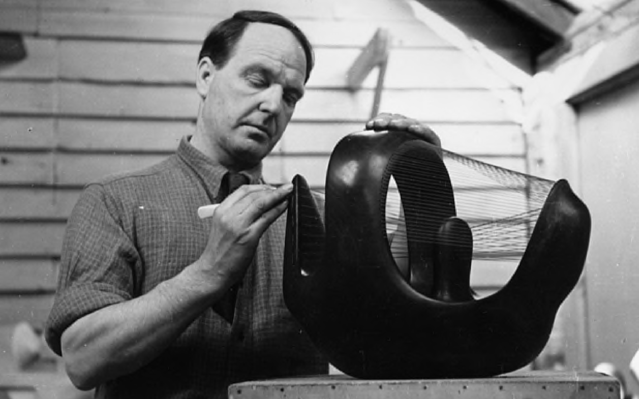 Henry Moore, photographed by Lauren Bacall, 1945