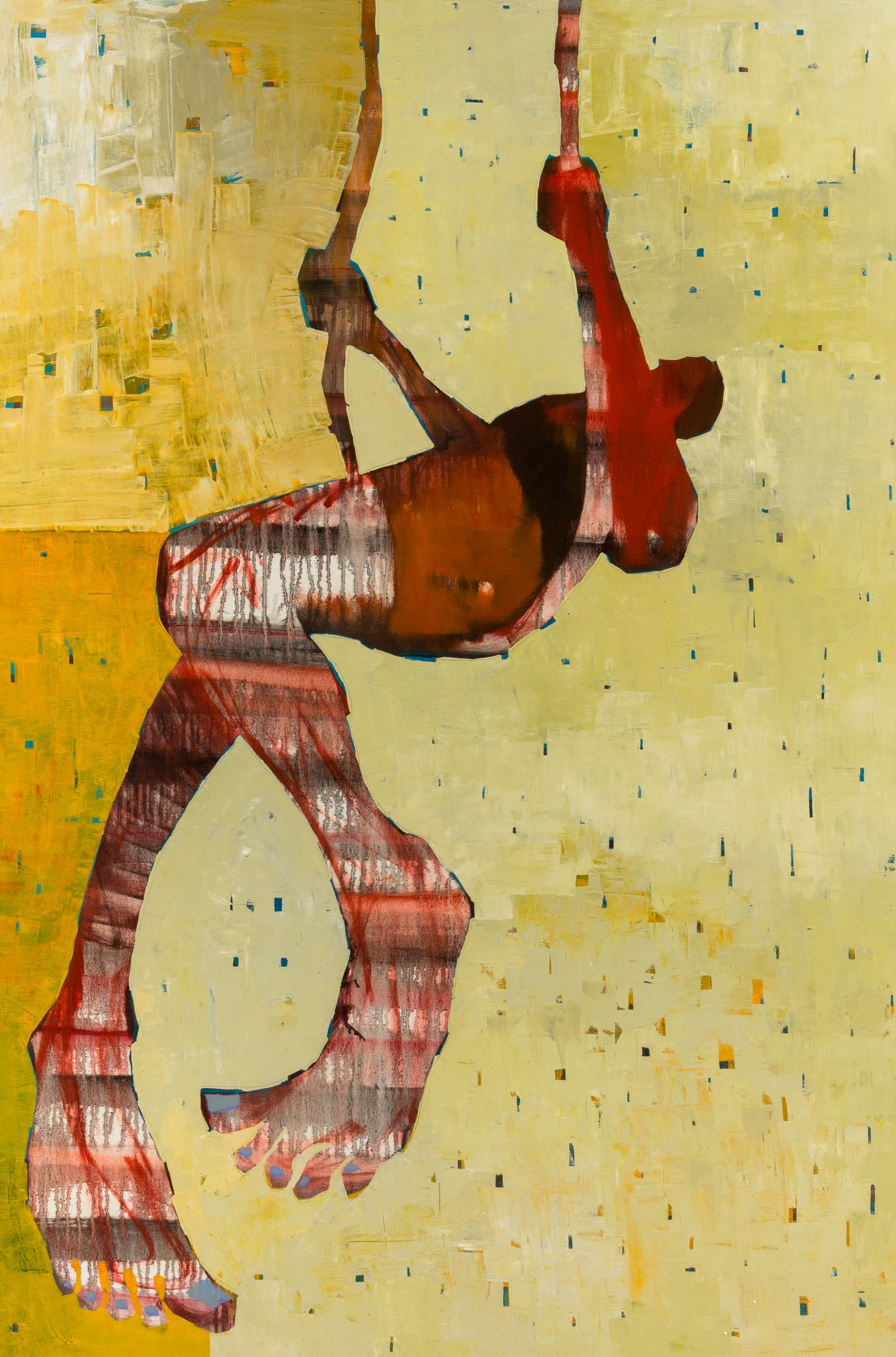 """Belassen, """"Swinger,"""" Oil on Canvas, 60 x 40 in."""
