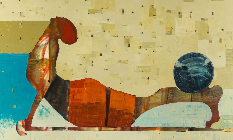 "Belassen, ""Shine,"" Oil on Canavs, 36 x 60 in."