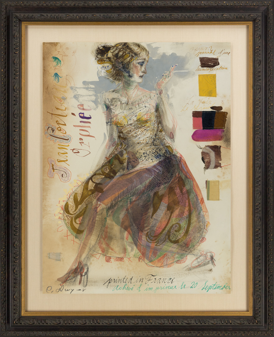 """Dwyer, """"Moulin Rouge Grand LXXXI,"""" Mixed Media on Paper, 24 x 18 in."""