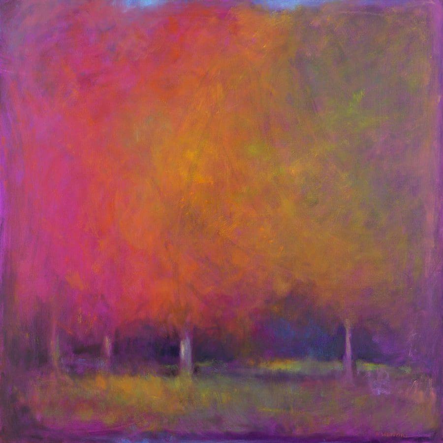 "Signori, ""Choose Your World,"" Oil on Linen, 36 x 36 in."