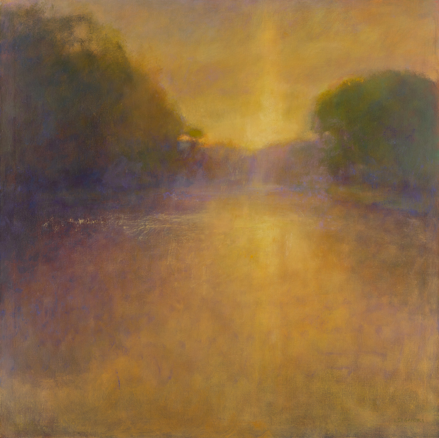 "Signori, ""Golden Eventide,"" Oil on Linen, 36 x 36 in."