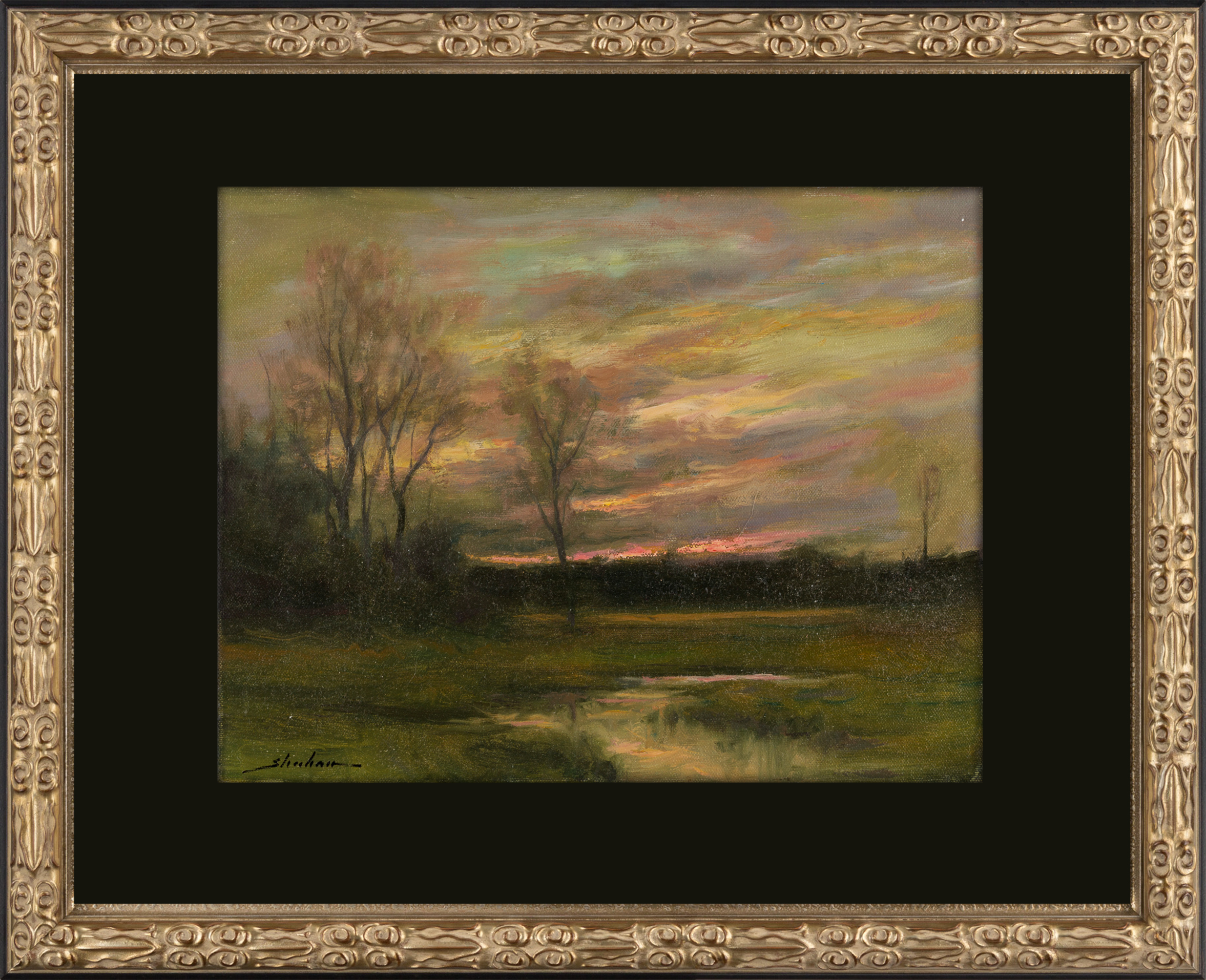 """Sheehan, """"Twilight's Call,"""" Oil on Canvas, 11 x 14 in."""