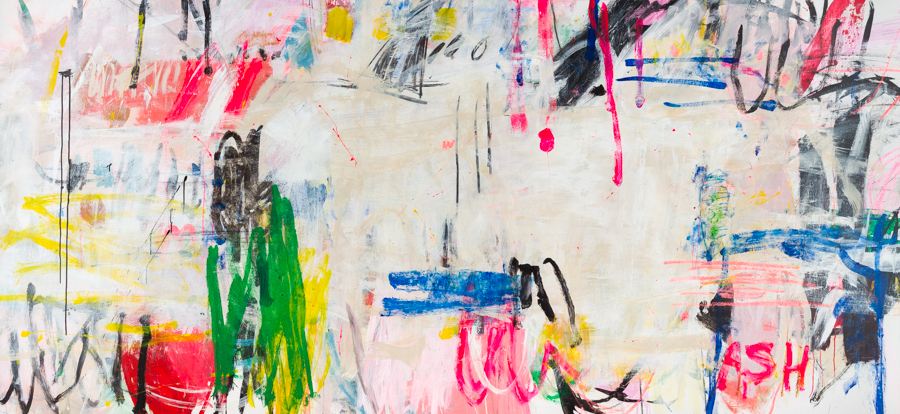"""Andrews, """"Wandering Florida,"""" Mixed Media on Canvas, 50 x 108 in."""