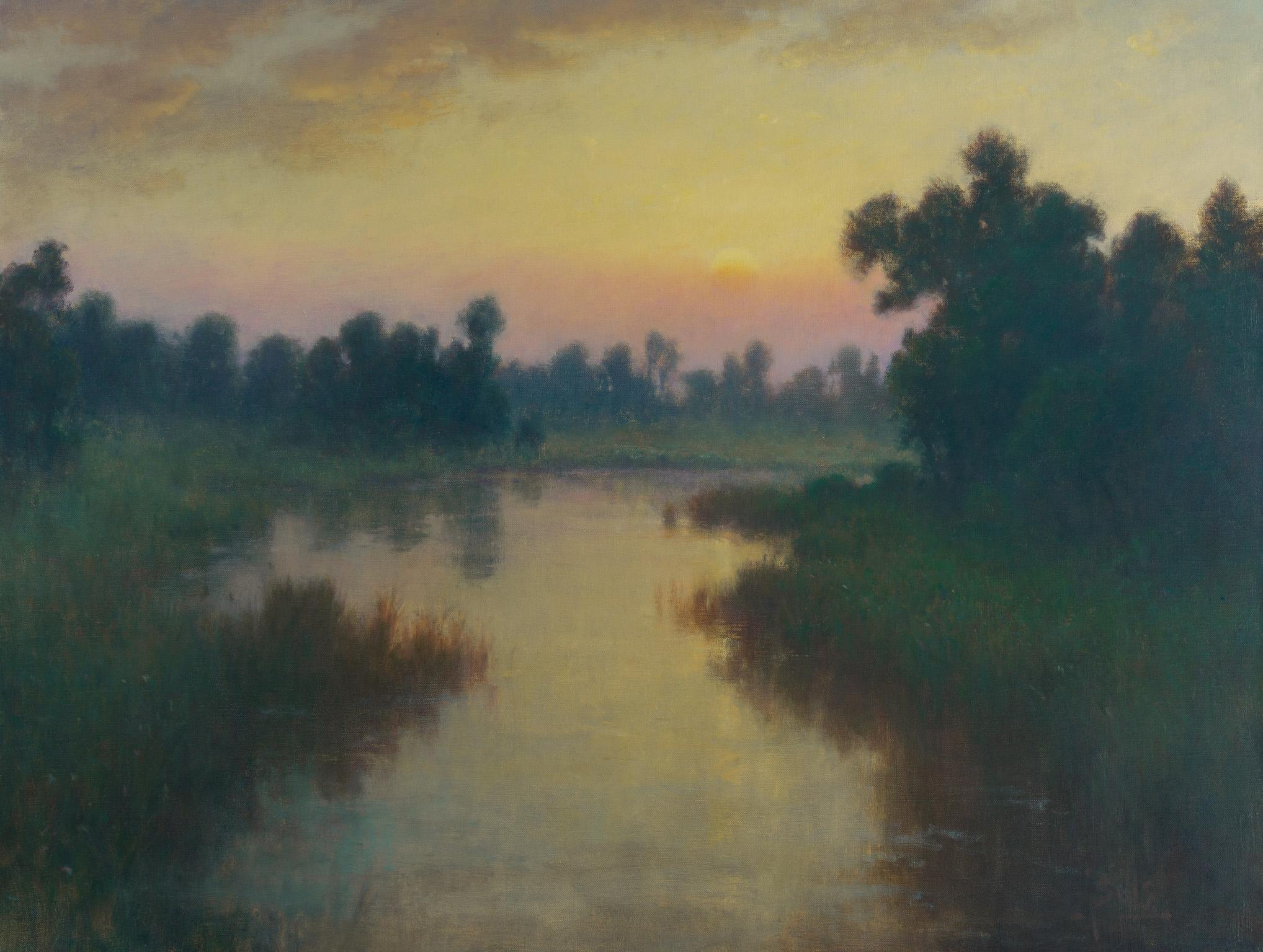 """Sills, """"Sleepy Dawn,"""" Oil on Canvas, 32 x 42 in."""