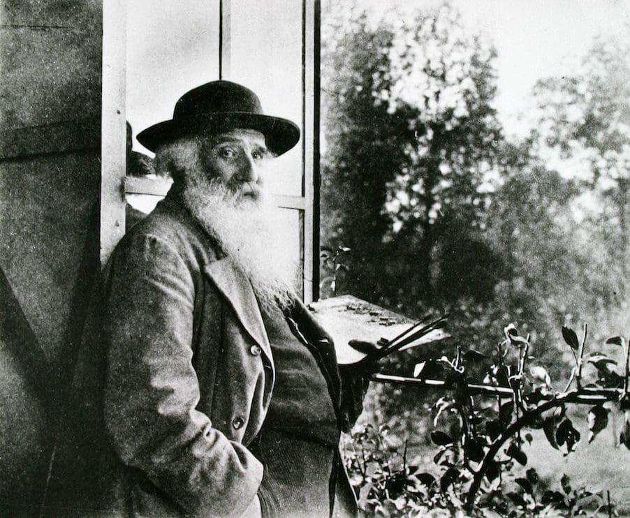 Pissarro in his Studio at Eragny (courtesy of the Artbook Annex)