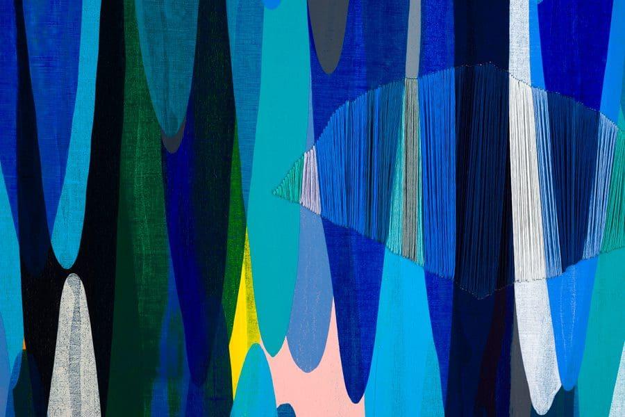 "Detail Shot: De la Torre, ""Poemes LVI,"" Mixed Media on Canvas, 43 x 67"