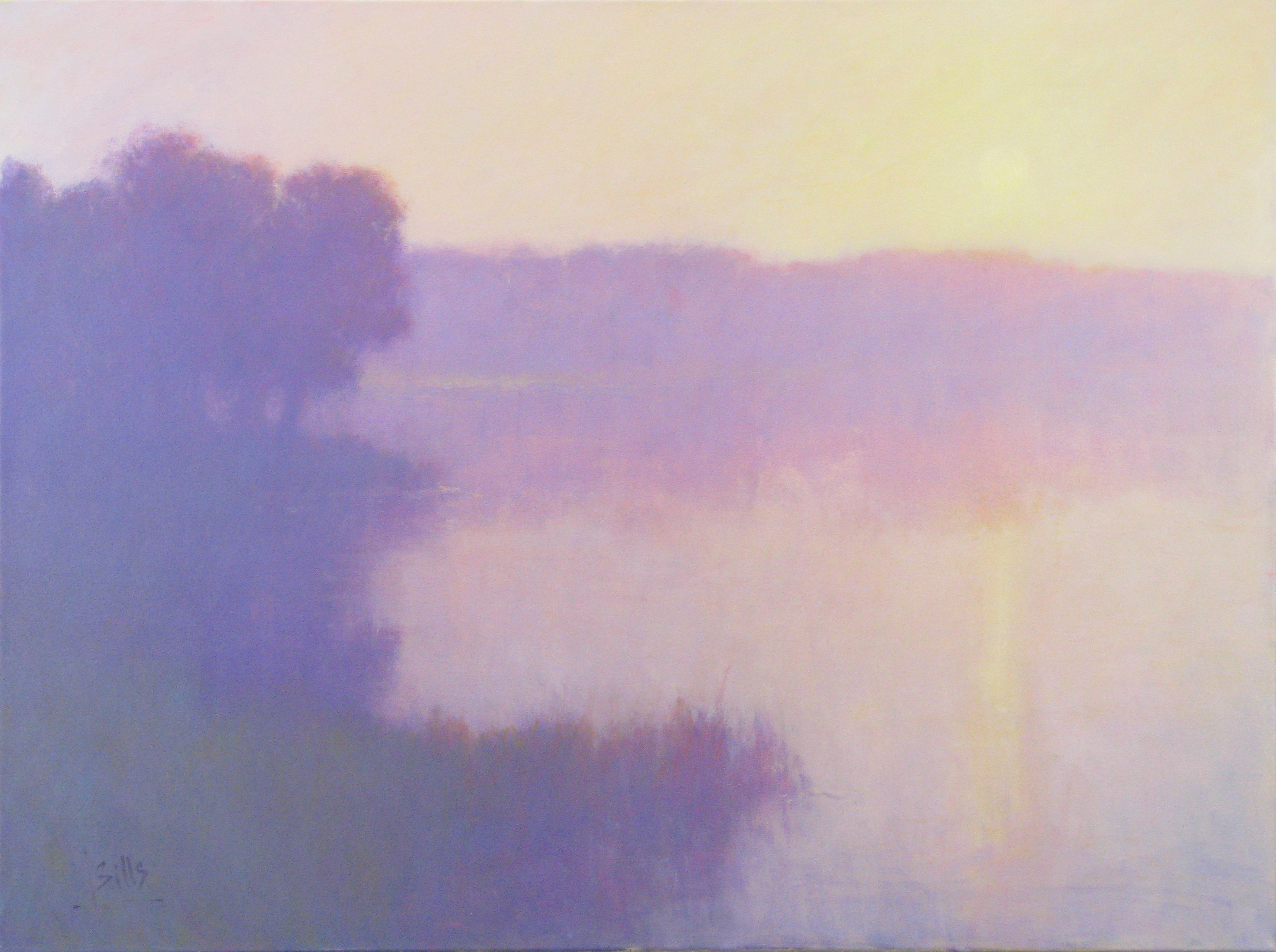 "Sills, ""Dawn Blush,"" Oil on Canvas, 36 x 48 in."