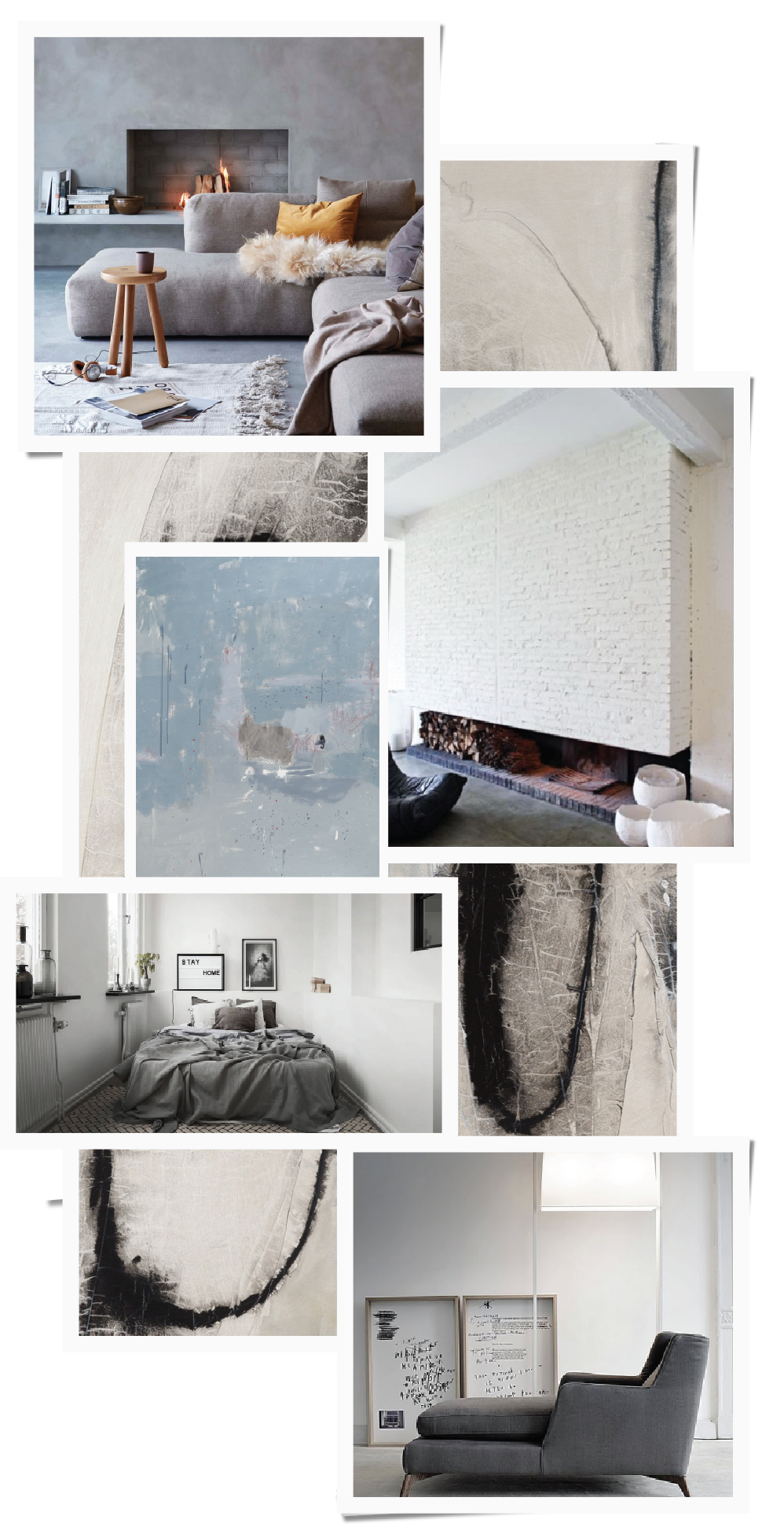 Collage, Nordic, Grey