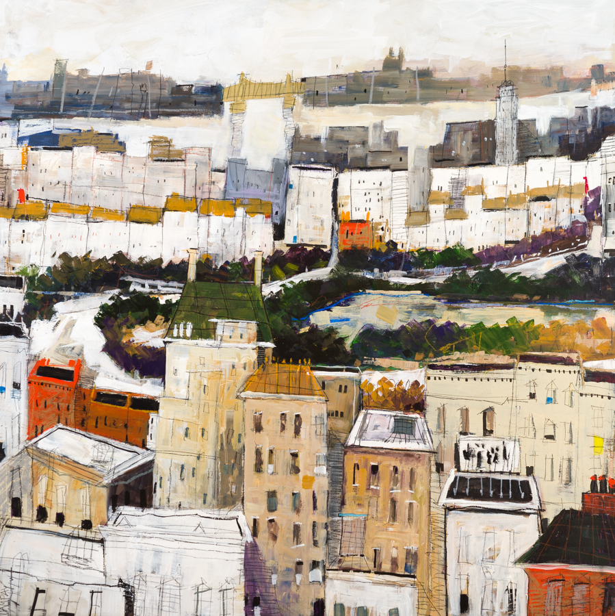 Dennis Campay's Above the Green Roof painting