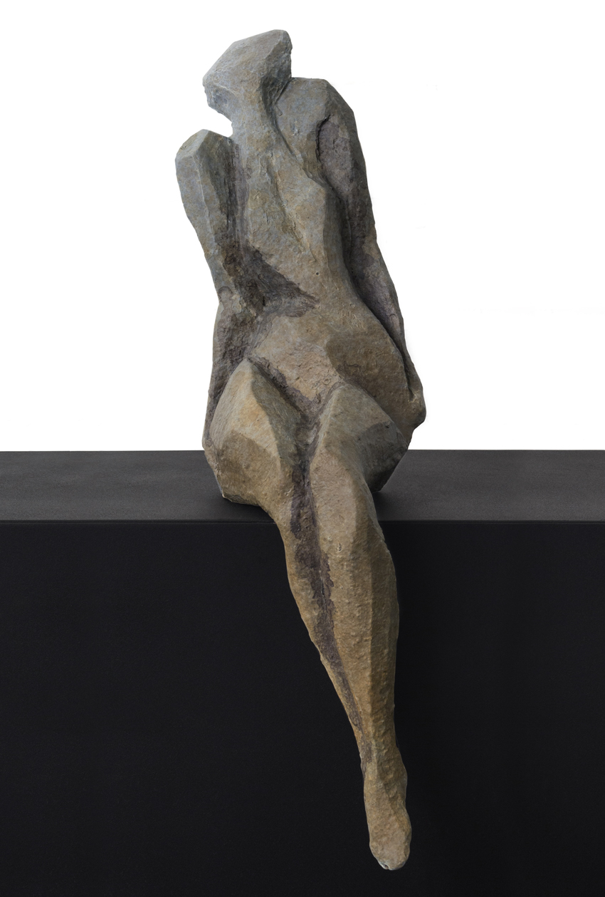 Sheila Ganch, Thought, Bronze, 17 × 5 × 7 inches