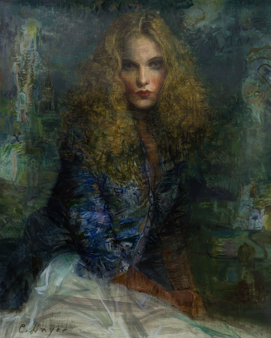 Charles Dwyer, Violet, Oil on Canvas, 50 × 40 inches