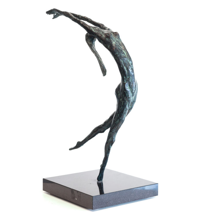 Don Wilks, Naked Dancer, Bronze, 17 × 12 × 8 inches