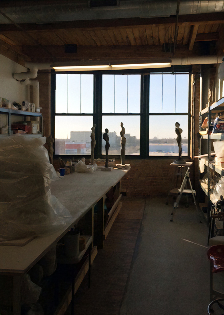 City view from Ganch's studio