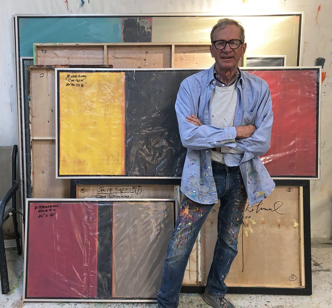 David Rothermel in the studio
